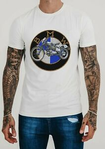 Biker Club Motorcycle s Vintage Bmw T Shirt Rider Touring White Color