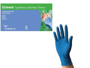 Blue Vinyl Gloves Stretchy 4 8mil Thick Latex free Exam X large By Cardinal