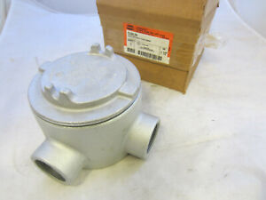 Crouse Hinds Gual59 Explosion Proof Junction Box L Style 1 1 2 New