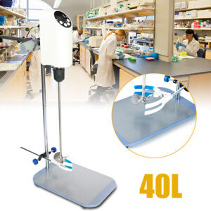 40l Lab Electric Overhead Stirrer Mixer Agitator Homogenizer W Digital Display