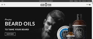 Dropshipping Beard Store Professional Website Turnkey Business For Sale