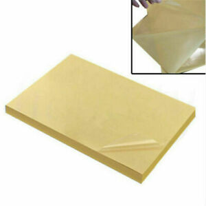 50pcs A4 Clear Transparent Film Self Adhesive Sticker Paper For Laser Printer