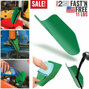 2 Sizes Mintiml Draining Tool Funnel Flexible Oil Draining Funnel Tools Workshop