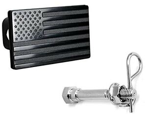 Usa American Black Flag Metal Trailer Hitch Cover For 2 Inch Receivers Chevy