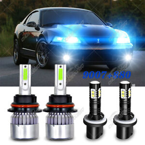 For Ford Mustang Gt Svt Cobra 1999 2002 2003 Led Headlight Hi lo fog Light Bulb
