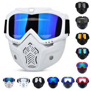 Protective Goggles Eye Protection Glasses Detachable Face Mask Work Lenses Ppe
