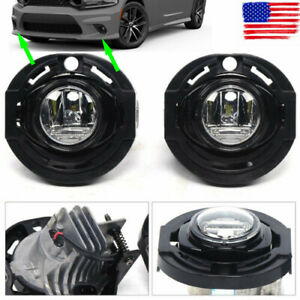 Clear Led Fog Lights For 15 19 Dodge Charger 14 16 Jeep Grand Cherokee Lamp L rh