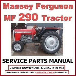 Massey Ferguson Mf290 Mf 290 Tractor Service Parts Manual Cd 558 Pages