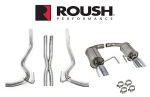 2015 2017 Mustang Gt 5 0l V8 Roush 422092 Cat back Exhaust System W X Pipe
