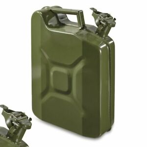 Jerry Can Gas Container Steel Us Army Green Military Style 10 Liter 2 5 Gallon