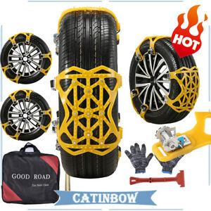 Snow Tire Chains For Car Suv Thickened Anti skid Emergency Strap A Set Of Six