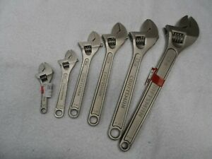Craftsman 4 6 8 10 12 15 Adjustable Wrench Set Made In China 6 Pcs