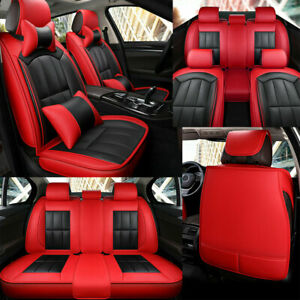 Car Seat Covers 5 sit Fashion Cushion Luxury Leather Full Set Protector Interior
