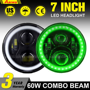 7inch Led Work Lights Pods Drl Round Led Driving Fog 4wd Suv Offroad Atv Boat