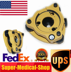 High Quality Gps Rotating Tribrach Adapter With 5 8 Rotating Screws Yellow Usa