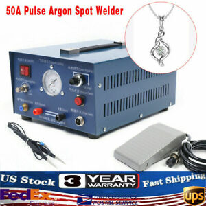 50a Pulse Argon Spot Welder Foot Switch For Gold Silver Platinum Jewelry 110v