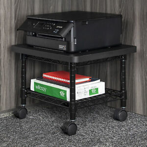 Safco Under Desk Printer fax Stand 300 Lb Load Capacity 13 5 Height X 19