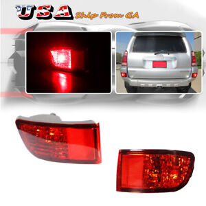 Led Rear Bumper Reflector Tail Brake Lamps Kit For 2003 2004 2005 Toyota 4runner