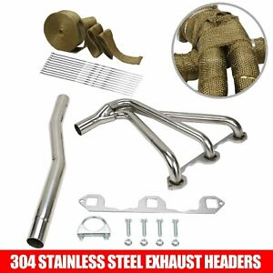 For Mg Mgb 1962 80 1 8l L4 Stainless Performance Manifold Header W Gasket Wrap