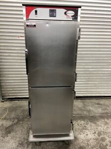 Heated Food Warmer Hot Box Holding Cabinet On Wheels Bevles Nsf Transport 5086