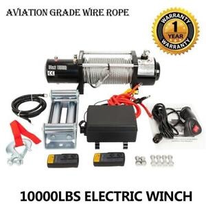 Brand New 10000lbs Electric Recovery Winch Truck Remote Control Free Shipping