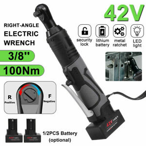 3 8 12v 42v 65 100nm Electric Cordless Ratchet Right Angle Wrench 1 2 Battery