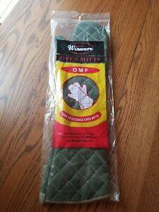 Winco 24 Flame Resistant Sage Green Oven Mitt Bbq Smoker Pit Boss Long Arm