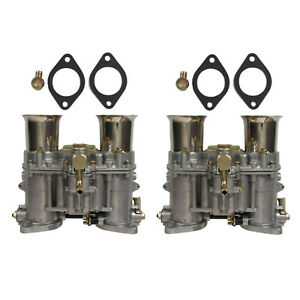 2 X New Carburetor With Two Gaskets For Weber 48 Ida Rod 19030 018 19030 015