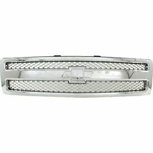 New Chrome Grille For 2007 2013 Chevrolet Silverado 1500 Gm1200655 Ships Today