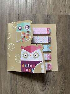 250x Owl Sticky Notes Pages Sticker Cute Post It Bookmark Notepad Index Tab New
