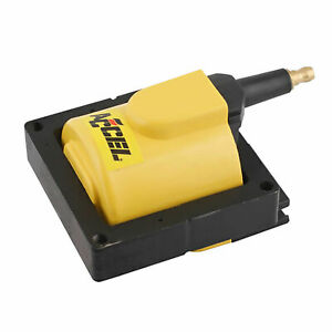 Accel 140012 Ford Eec iv Super Coil 1984 1998 Yellow 48 000v Individual