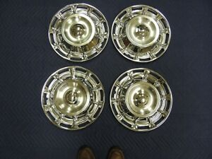 Brand New Set 1959 1960 1961 1962 Corvette Hubcaps Wheel Covers Without Spinners