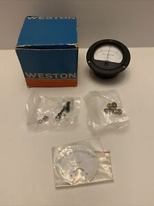 Daystrom Weston 301 57 Dc Micro amperes Panel Voltmeter New Old Stock