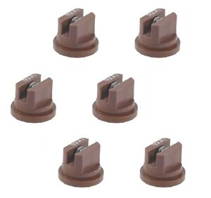 Pack Of 6 Teejet Even Flat Spray Tip Brown 95 Polymer W Ss Insert Visiflo
