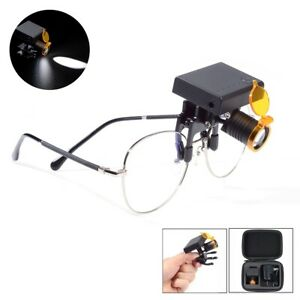 Wireless Dental 3w Led Headlight With Filter For Medical Binocular Loupes Glass
