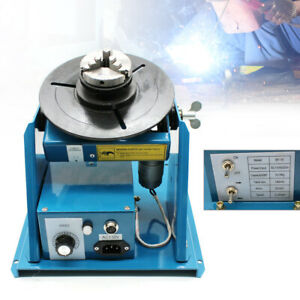 Rotary Welding Positioner Turntable Table 110v 0 90 2 5 3 Jaw Lathe Chuck 80a