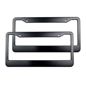 Usa American Black Metal License Plate Frame Car truck Tag Cover holder Us