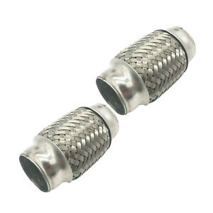 2pcs 1 5x 4 Exhaust Flexible Adaptor Tube Pipe Joint Repair Kit Stainless