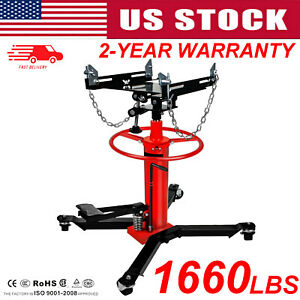 1660lbs Transmission Jack 2 Two Stage Hydraulic W 360for Car Lift Auto Lift Us