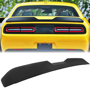 For 2008 2017 Dodge Challenger Demon Style Painted Black Rear Wing Trunk Spoiler