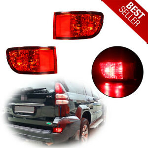 For 03 05 Toyota 4runner Red Led Rear Bumper Reflectors Tail Brake Stop Lights