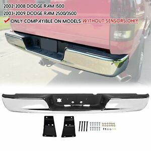 For 03 09 Dodge Ram 2500 3500 Steel Rear Bumper Assembly W License Plate Light