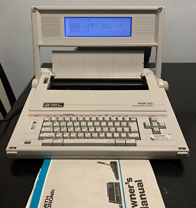Smith Corona Pwp 65d Typewriter Personal Word Processor W Cover And Screen