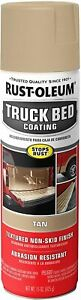 Tan Truck Bed Liner Trailer Coating Spray Protection Automotive Paint 15oz 1pk