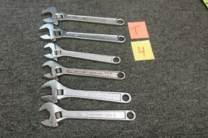 6 Crescent Crestoloy Craftsman Gm Goodwrench Adjustable Wrench 10 12 Tools