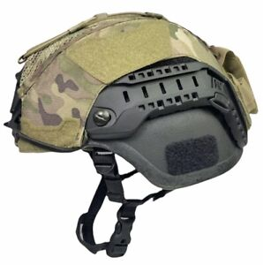 Large OCP MULTICAM ACH MICH ECH HELMET COVER w COUNTERWEIGHT POUCH HYBRID MESH $49.99