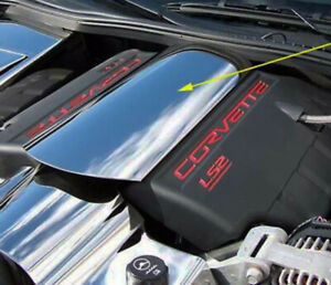 2005 2013 Corvette Polished Stainless Steel Engine Intake Plenum Cover Usa Made
