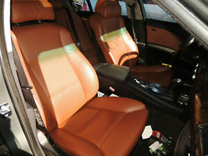2006 Bmw Oem Front Rear Chocolate Leather Seats 425 Obro 200720