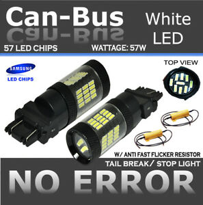 Samsung Canbus 57 Led White Front Turn Signal Replace Sylvania Light Bulb Y139
