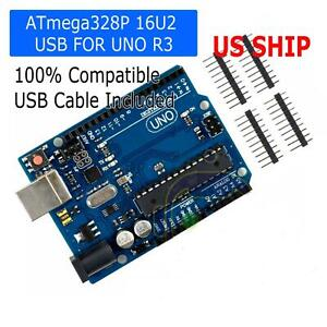 Uno R3 Board Atmega328p Atmega16u2 For Arduino Compatible With Usb Cable